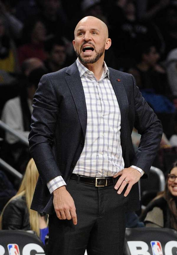 Jason Kidd reacts during the second half of