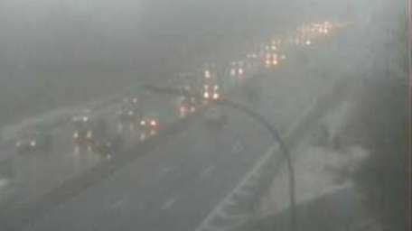 Drivers deal with low visibility on the Southern