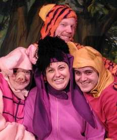 "A live performance of ""Winnie the Pooh"" begins"