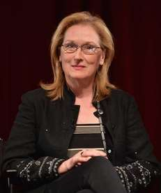 Meryl Streep attends a Q&A session following a