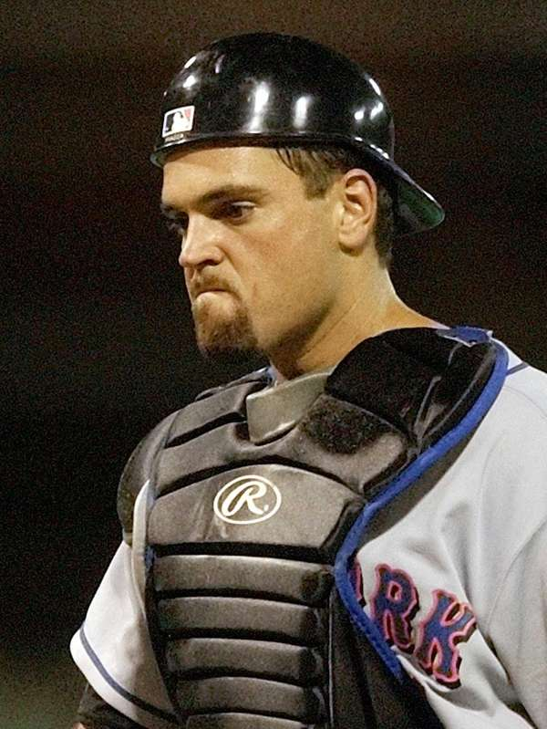 Mike Piazza is in his third year on