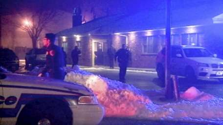 Suffolk County police investigate a shooting at a