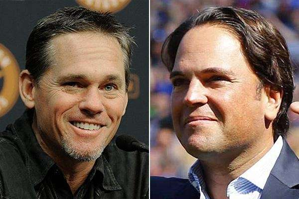 Craig Biggio and Mike Piazza are seen in