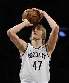 Andrei Kirilenko shoots a free throw against the