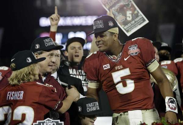 Florida State head coach Jimbo Fisher and Jameis