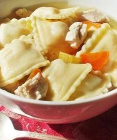 The chicken ravioli soup recipe can be found