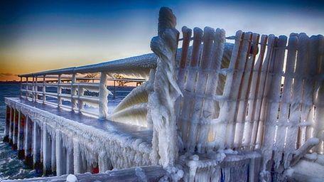 Frozen South Shore of Long Island near the