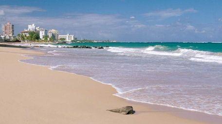 The beach at the San Juan Marriott Resort