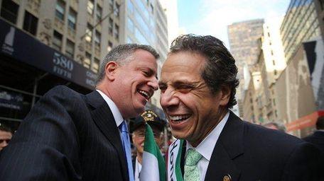 Mayor Bill de Blasio and Gov. Andrew Cuomo.