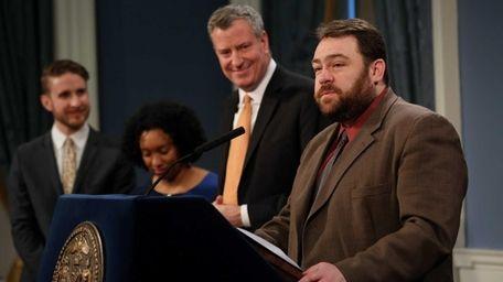 Philip Walzak was introduced as Mayor Bill de