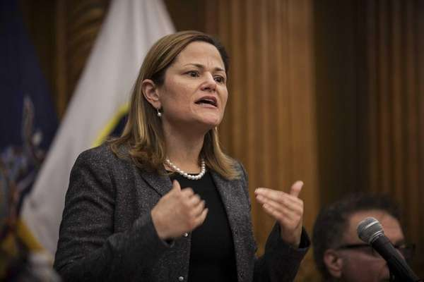 Councilwoman Melissa Mark-Viverito is shown at a public