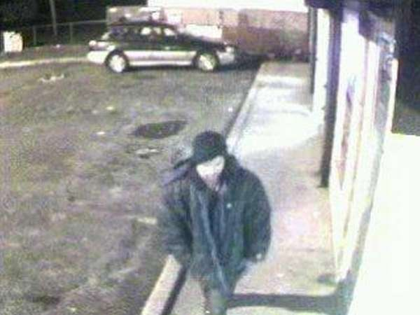 This is a surveillance photo of the suspect