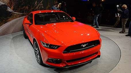 The new Mustang will join 71 vehicle debuts,