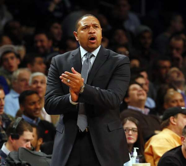 Mark Jackson of the Golden State Warriors reacts