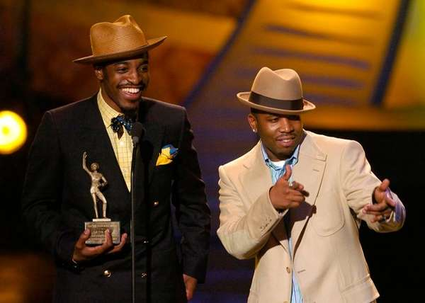 From left, OutKast members Andre 3000 and Big