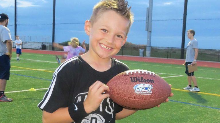 Sebastian Lippman, 8, of Plainview, will compete Saturday