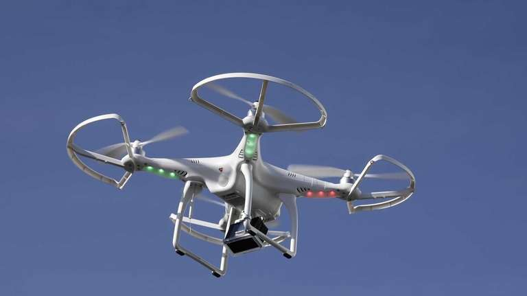 Special delivery of the future? A drone flies