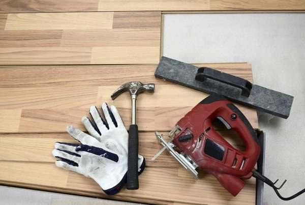 Follow these steps to install a laminate floor.