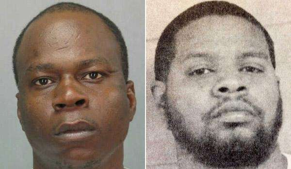 Christopher Evans, left, 29, and Angelo Brown, right,