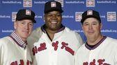 Former Atlanta Braves pitchers Tom Glavine, left, and