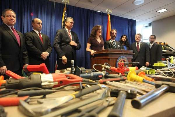 Nassau District Attorney Kathleen Rice joined by federal