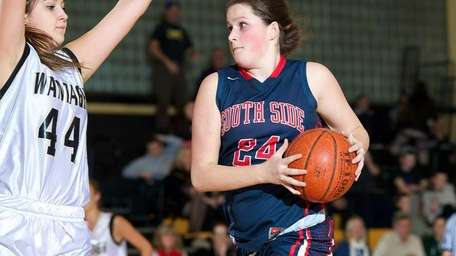South Side forward Laura McNally drives to the