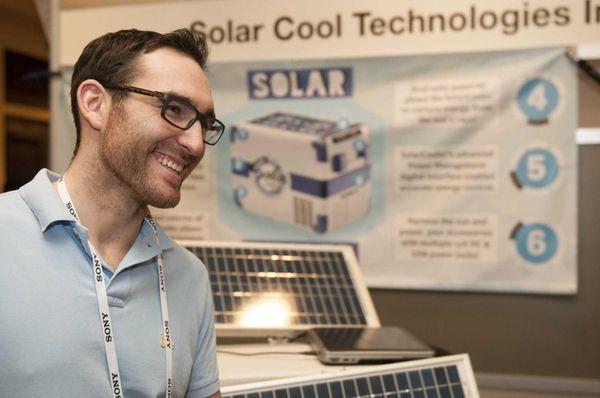 Ryan McGann of Shoreham, founder of Solar Cool