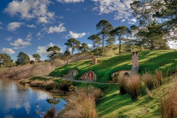 The Shire Hobbiton in Matamata, New Zealand, was