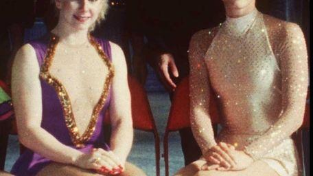 U. S. figure skaters Tonya Harding, left, and