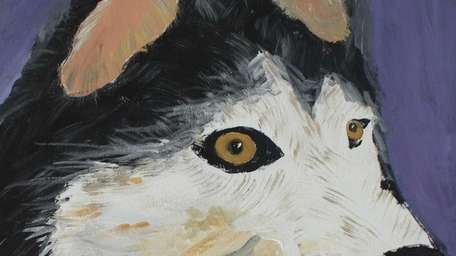 Sofia Brixius' painting of a husky won in