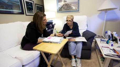 Jennifer Rogak, Licensed Clinical Social Worker, meets with