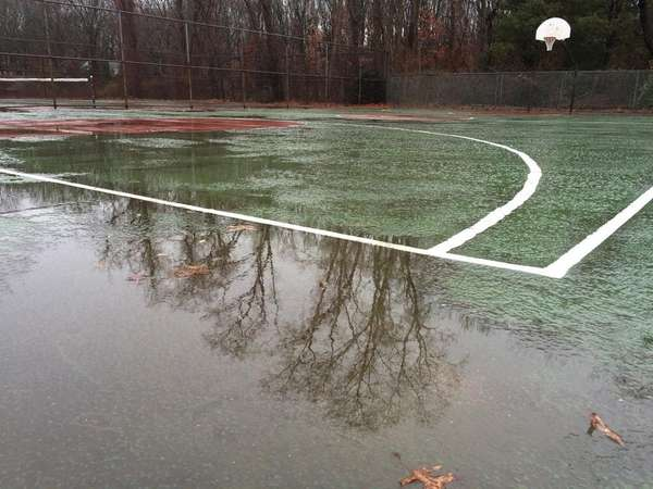The basketball and tennis courts at Laurel Drive