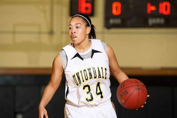 Uniondale guard Sakara Hester-Torres handles the ball during