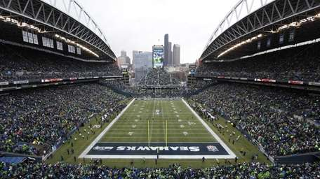 Fans at CenturyLink Field watch the Seahawks and