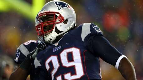 LeGarrette Blount of the New England Patriots celebrates