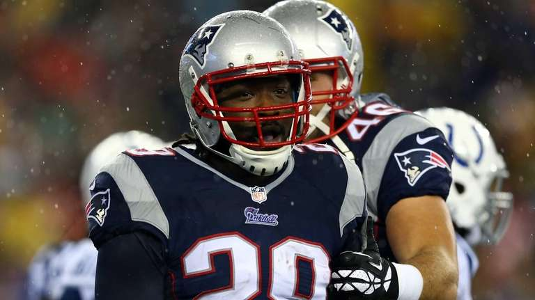 LeGarrette Blount of the New England Patriots celebrates