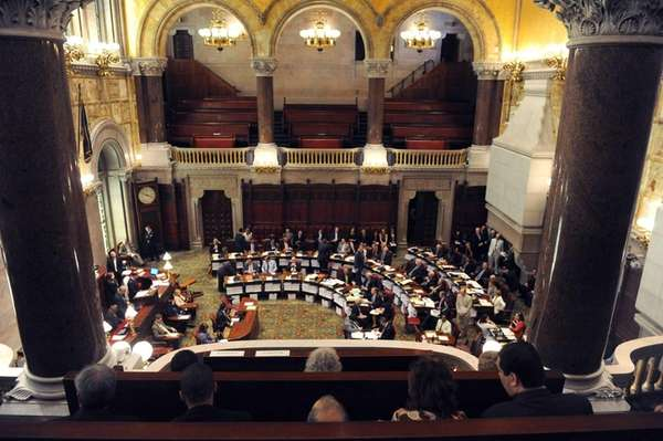 The New York State Senate prepares gavel in