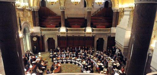 The New York State Senate prepares gavel in