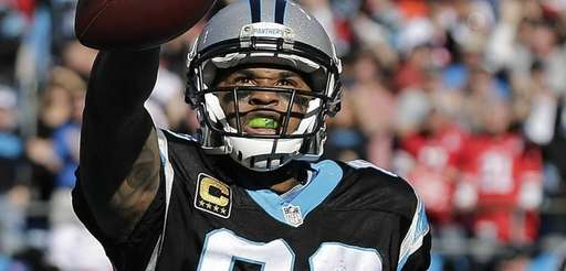 Carolina Panthers wide receiver Steve Smith (89) celebrates