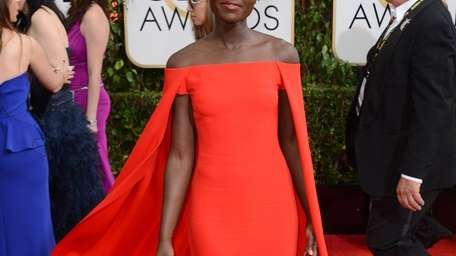 Nominee Lupita Nyong'o stunned on the red carpet