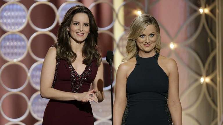 Tina Fey, left, and Amy Poehler host the