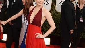 Amy Adams arrives for the 71st Golden Globe