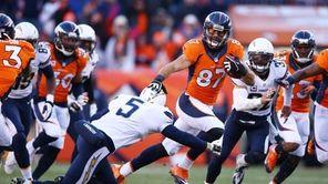 Denver Broncos wide receiver Eric Decker returns a