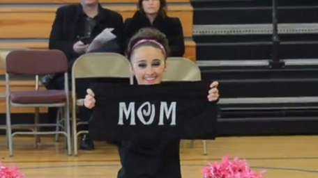 The Bethpage High School kickline team honors cancer