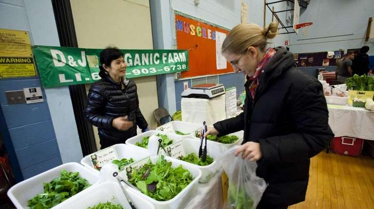 Organic greens from D & J Organic Farm