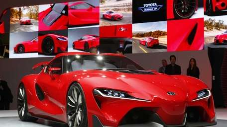 The Toyota FT-1 concept is unveiled during media