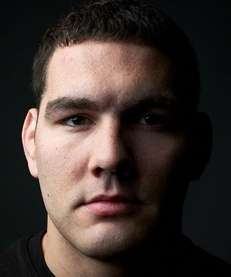 Portrait of UFC middleweight champion Chris Weidman, from