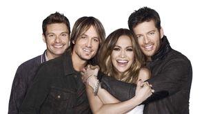 """American Idol"" season 13: Host Ryan Seacrest, left,"