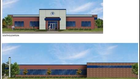 This rendering depicts a new building has been