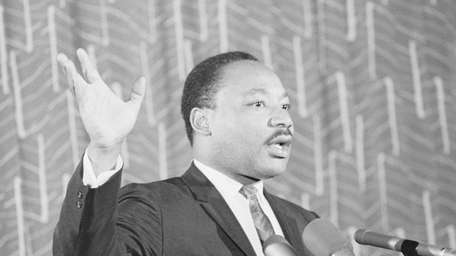 Dr. Martin Luther King Jr. is seen here